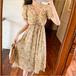 【dress】気質満点大人可愛い Vネック清新人気デザイン花柄ワンピースゆったり