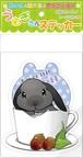 うさぎステッカー【cup rabbit どんぐり】