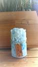 レースキャンドル BLUE SEA ラベンダーの香り