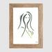 """Longhair Girl"" Stencil"