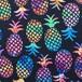 パイナップル生地・真夏のパイナップル・ブラック  *  40×110cm
