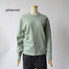 PHLANNEL SOL/フランネル・ suvin cotton sweat shirt