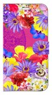 【iPhoneX】 Hawaiian Flowers Garden ハワイアンフラワーズガーデン ー Fuchsia Pink フューシャピンク 手帳型スマホケース