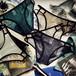 【小物】セクシー透明ドット柄メッシュローウエスト透かし彫りキャミソールショーツ18227668