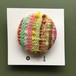 ひょうたんカフェの織りブローチ <NO.1…マルチカラー(ピンク・ライトグリーン等)>