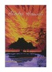 Aloha Hawaii ポストカード 絵画:アフターザレイン(After The Rain)