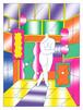 Chou Yi(周依)リソグラフ 作品「走路的女孩」