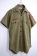 1970's BSA ループカラー オフィシャルシャツ カーキ 実寸(M位) ボーイスカウト