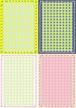 ■リリース記念4種類set A4用紙 081-084【summer-orange】5枚×4種 1500円