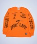 RAKUGAKI PAINT LIFE LONG T-Shirts Neon Orange