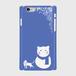 スマホケース SnowCAT【ライトブルー】ハードケース iPhone/Android
