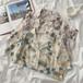 レディース カジュアル 折り襟 半袖 レトロ オシャレ シャツ・トップス