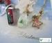 クリスマスの雪景色を閉じ込めたしずくのネックレス
