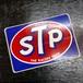70's STP OIL スクエア ビンテージ ステッカー STPオイル Firestone