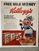 460 アメリカ USA ビンテージ チラシ 広告 切り抜き インテリア 50s 60s  LIFE  Kellogg's ケロッグ コーンフレーク