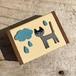 小さな猫の木箱 (晴れ雨)
