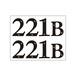 ステッカー シャーロック・ホームズ 221B