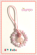 [Spring in full bloom!] Cherry blossom colour! Gourd (Hyoutan) straps with Rhodonite and Rose Quartz