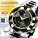 【J.HARRISON】 JH-024MBB 4石天然ダイヤモンド付ソーラー電波腕時計