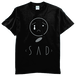SAD tee men Black