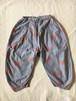 whale print pants シャドーブルーS・Mサイズ