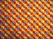 アフリカ布6ヤード【黄土色×赤×星丸柄】
