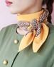 GUCCI yellow silk scarf