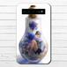 #065-004 モバイルバッテリー 綺麗 おしゃれ かわいい 花柄 ハーバリウム iphone スマホ 充電器 タイトル:フェアリウム(青) 作:アナ