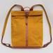 Paraffin canvas backpack MUSTARD