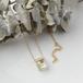 小さな野原のネックレス14kgf ヒメツルソバ / ライスフラワー(送料無料, 誕生日プレゼント, 無料ギフトラッピング, メッセージカード)