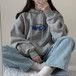 新作      ゆったり     韓国ファッション   薄手      フード付き     長袖   プリント   パーカー・トップス