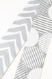 グラースオリジナル博多織小袋帯 丸と矢羽 白