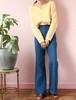 70s denim wide pants