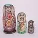 コブロフ工房 木彫りマトリョーシカ 3個型(バラライカ・ピンク)