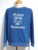 1970's OXFORD UNIVERSITY カレッジプリントラグランスウェット ツートーン 紺 実寸(M)