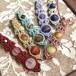 天然石のマクラメ編みペンダントトップ/長い花瓶