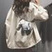 送料無料 kawauso【ぞう 象  レディース ショルダーバッグ(銀】アニマル 合皮 レザー 革 革製 /ユニーク 面白い 可愛い