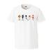 """藤森デザイン""""今までの曲、マスコットにしました"""" Tシャツ(ホワイト)"""