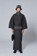 きもの / 米沢織 / 千鳥 / Dark brown(With tailoring)