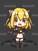 猫水着ちゃん_黒_XL