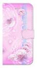 【iPhone6/6s】 Peony Dream 芍薬の夢 ソフトピンク 手帳型スマホケース