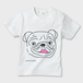 初回限定各サイズ25枚ずつ かわいいパグのキッズTシャツ ※お肌にやさしいガーメントインクジェット印刷