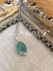 【宝石質】エメラルドのワイヤーラッピングのペンダント