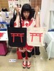 【鳥居】トートバッグ+稲荷缶バッジセット