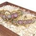 天然石のマクラメ編みブレスレット/ゴシック調TypeⅡ(アメジスト)