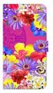 【iPhone6Plus/6sPlus】Hawaiian Flowers Garden ハワイアンフラワーズガーデン ー Fuchsia Pink フューシャピンク 手帳型スマホケース