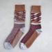 Reversible fringe socks A-S01 ワイン