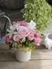 バラとチューベローズのアレンジメント/プリザーブドフラワー/バースデーギフト/結婚祝い/お誕生日祝い/お見舞い/退職祝い/出産祝い【お届け日指定可能】【即日発送】