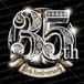 35周年PSD素材 エンブレム仕様。豪華でキラキラPhotoshop素材で周年を彩ろう!