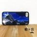 槍ヶ岳 強化ガラス iphone Galaxy スマホケース アウトドア 登山 山 ブルー ネイビー typet2